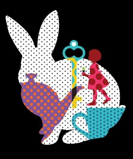 Easter Menu + Tee on the Behance Network #vector #pattern #cream #menu #alice #illustration #easter #ice #wonderland #minima