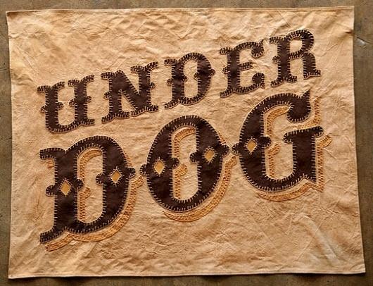 """Standard Grit — """"Under Dog"""" Flag #type #lettering"""