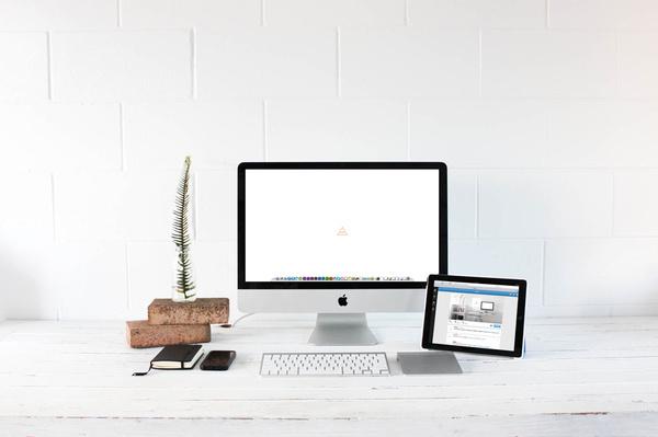 Our Studio Sorbet #interior #brick #white #office #sorbet #desk #minimal #studio