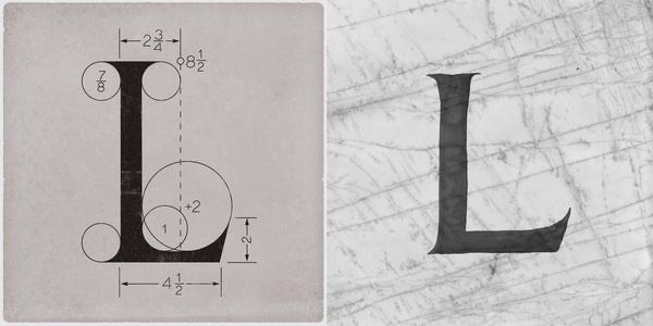 ROMAN L #calligraphy #type #lettering