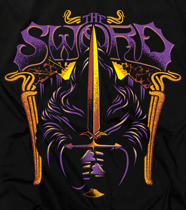 The Sword Signalnoise The art of James White #typography #gothic #illustration #purple #metal #heavy