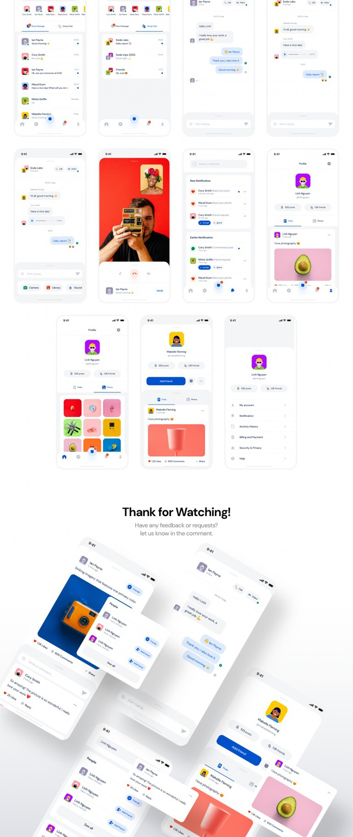 SSocial – App UI Kit