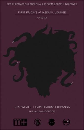 John Helmuth | Portfolio #crozet #snakes #vector #flyer #medusa #purple #poster
