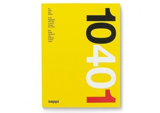 "Sappi ""Ideas that Matter"" anniversary   VSA Partners #vsa #print #yellow #sappi #book #partners #typography"