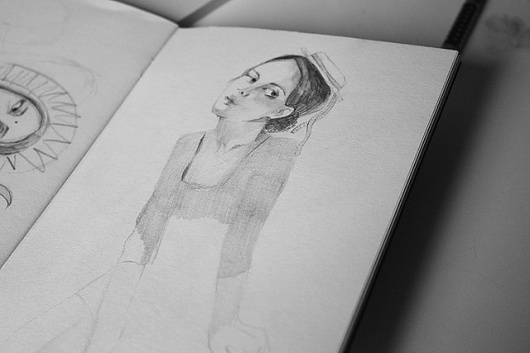 Untitled | Flickr - Photo Sharing! #isabelle #fille #au #illustration #laydier #jeune #drawing #chapeau