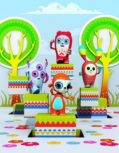 Theodoru 3D on the Behance Network #theodoru #toys #colorful #relevant
