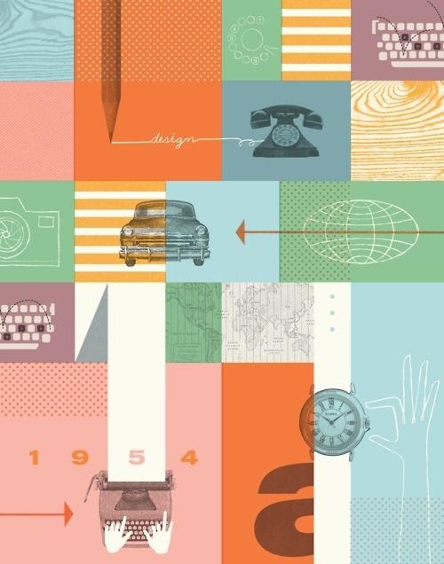 Fossil Brand Poster #illustration #layout #vintage