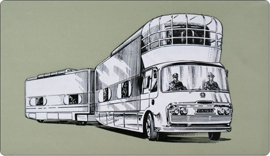 Vintage Mobile Cinema #illustration #cinema #mobile #vintage