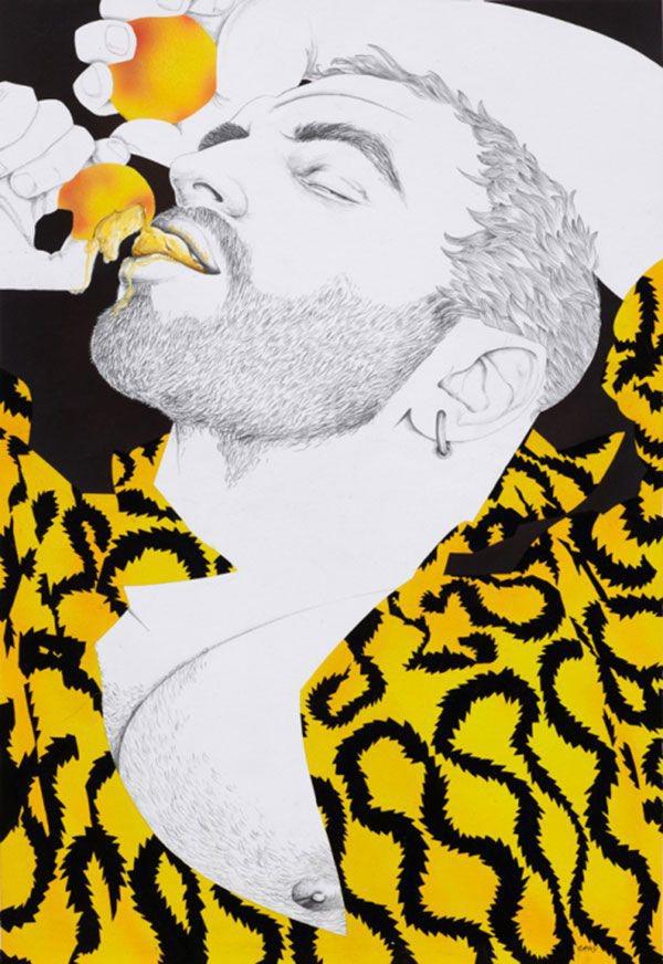Dibujo de chico gay tumbado by richard gray