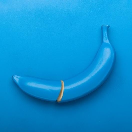 adrnhowart #banana #design #fruit #photography #blue #weird
