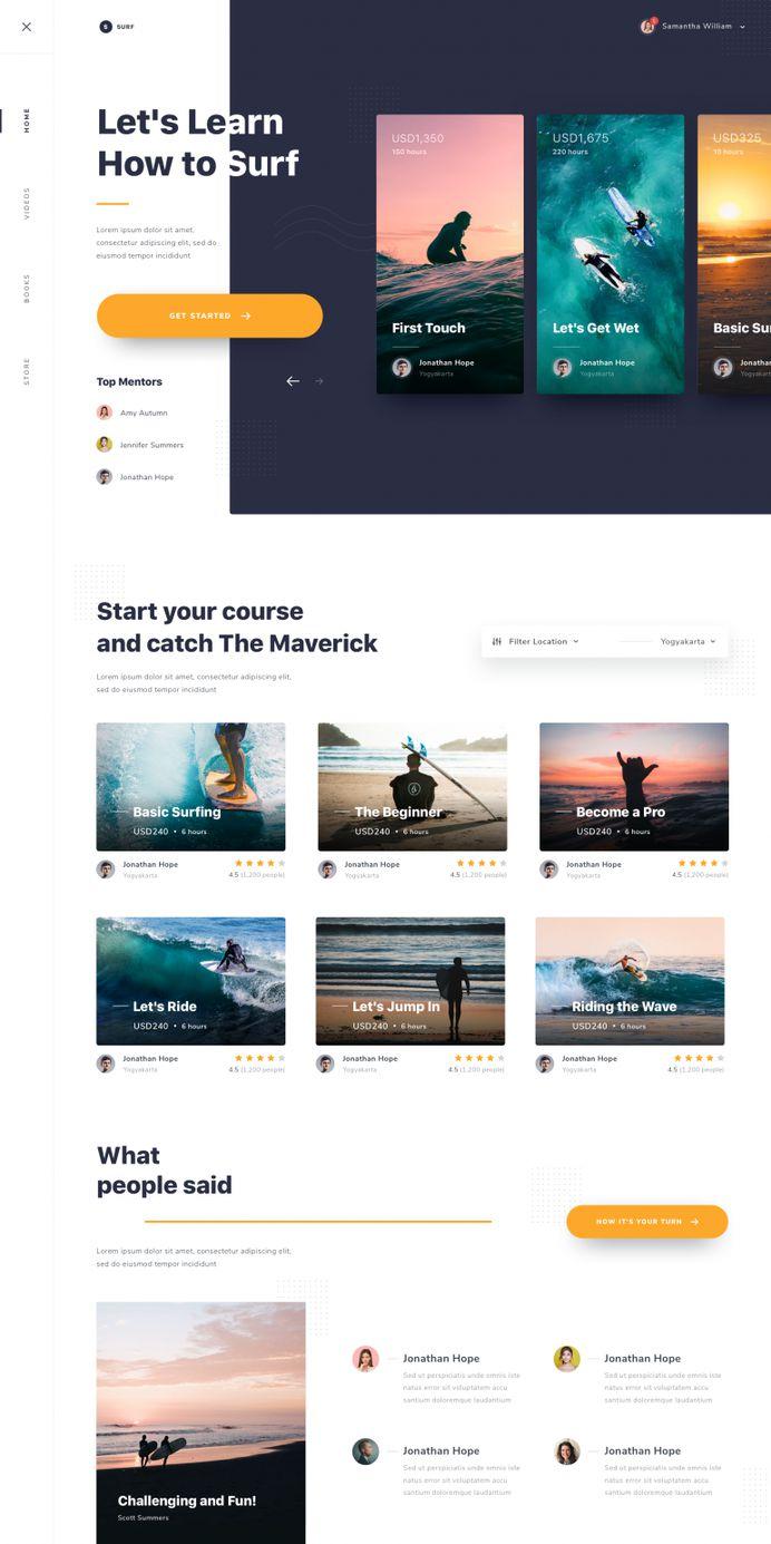 #Exploration | Website Learn to Surfing – Detail by Dwinawan