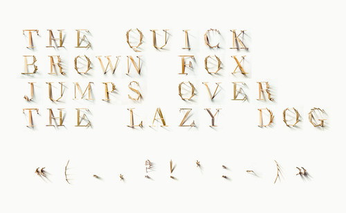 """CJWHO ™ (TYPICK Font by Jerome Haldemann """"I was given the...) #creative #font #design #toothpicks #art #clever #typography"""