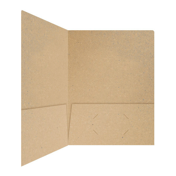 Hines Co. Kraft Recycled Paper Pocket Folder #brown #paper #folder #recycled #eco #friendly #presentation