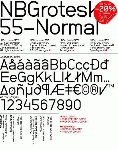 NeubauLaden NB-Typography NBGrotesk-55 Normal™ #font #typography