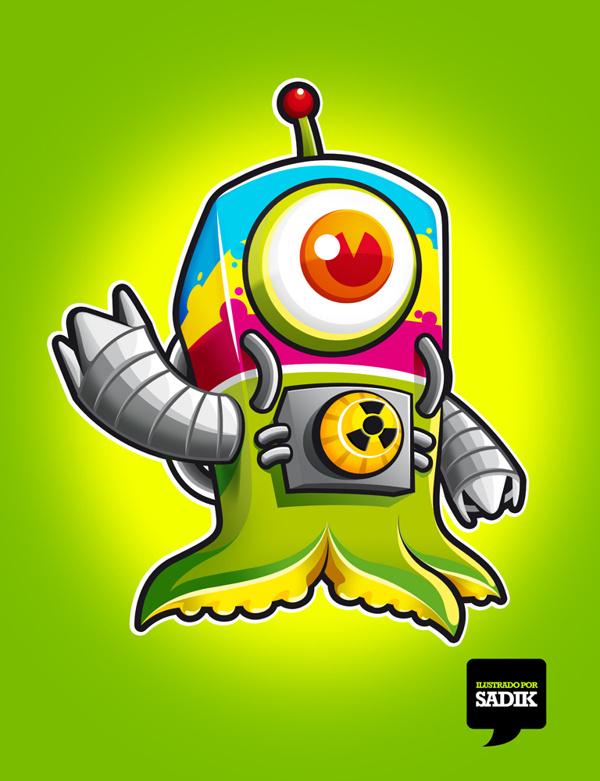 CMYK on Behance... https://www.behance.net/gallery/5273477/CMYK #alien #tentaculos #marciano #sadik #guanajuato #mexico #leon #eye #pulpo #ojo #cmyk #extraterrestre #verde #green