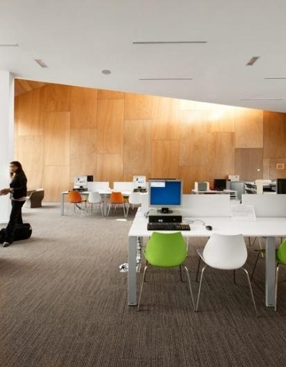Dezeen » Blog Archive » Multimedia Centre in Armentières by Béal & Blanckaert #interior #design