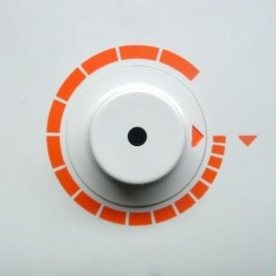 Braun electrical - Household - Braun H 7 #dieterrams #dial #orange #braun #minimal #circle