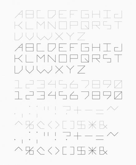 Font Design on the Behance Network #font #lines #minimal