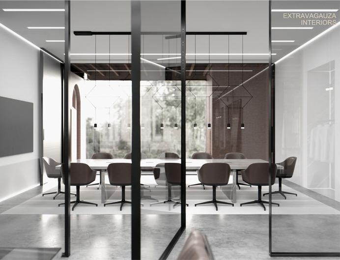Glazed Office by Extravagauza Interiors - InteriorZine