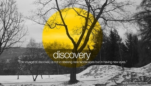 Visual Design #visual #tree #quote #yellow #design #discovery #photography