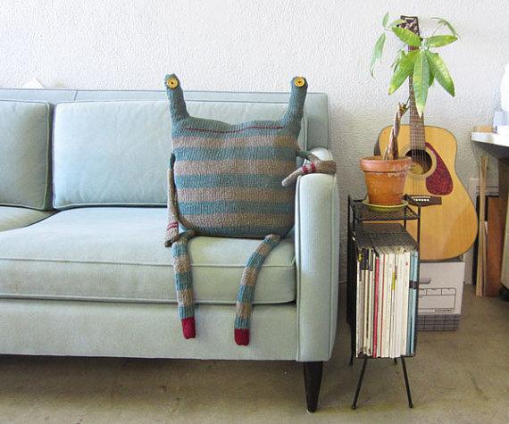 Beast Pillow, beast no. 164 #pillow #textiles #beast