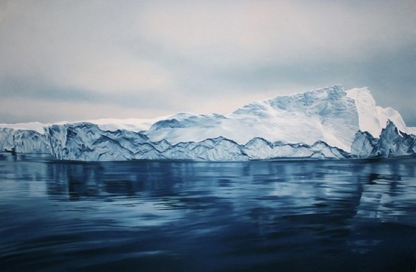 Pastel Icebergs by Zaria Forman 1 #painting #sea #art