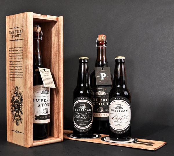 Publican Brewery #beer #design #wood #brews #identity #package #typography