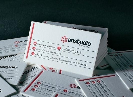 AnStudio - letterpress business card #card #letterpress #business #anstudio