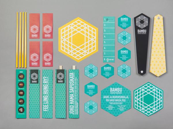 BAMBU #branding #stripes #food #geometric #identity #oriental
