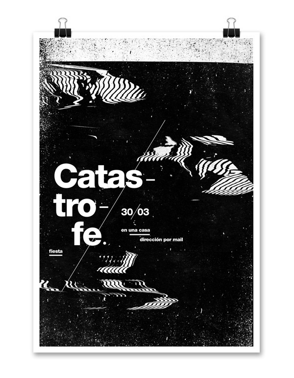 Fiesta Catástrofe on Behance #design #poster