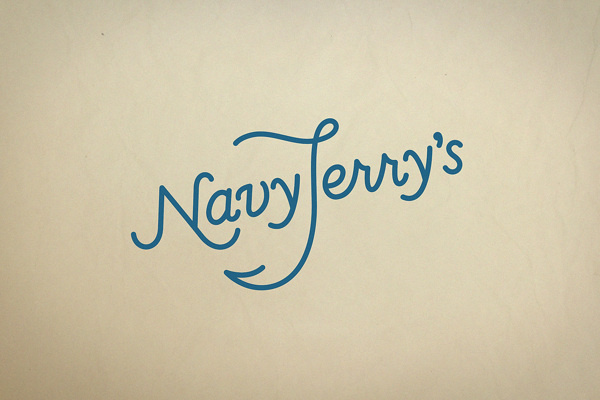 Navy Jerry's on Behance #logo #illustration #monoline