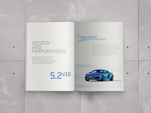 Audi R8 Brochure on Behance #magazine