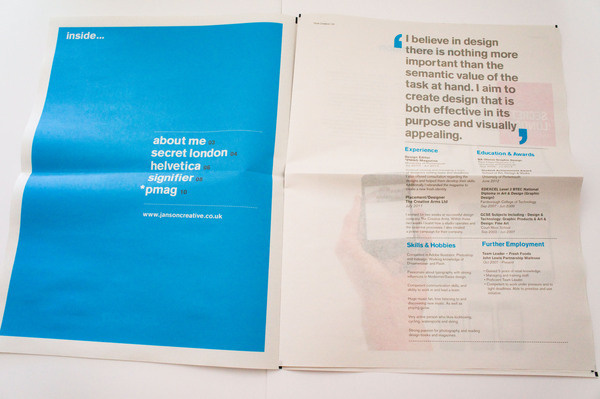 Janson Creative #news #print #grid #sheet #broad #layout #typography