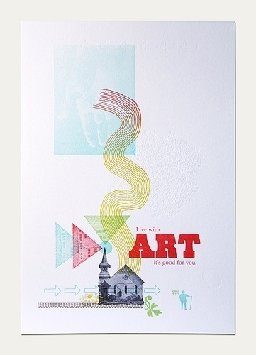 Art is good for you | Flickr - Photo Sharing! #letterpress #poster