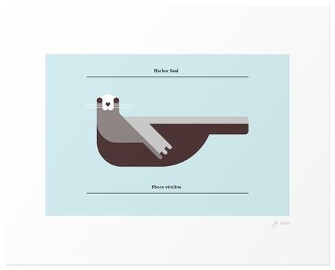 Lumadessa | Harbor Seal - Winter Edition #seal #vector #animal