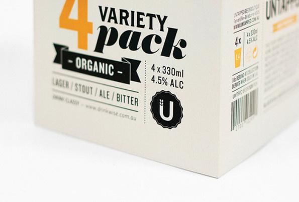 Untapped beer #beer #packaging #design #grid #minimal #package #typography
