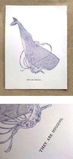 Jason Polan/ART/They Are Hugging #illustration