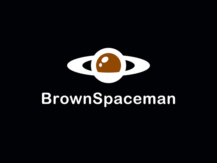 Brown Spaceman Logo - Zach Johnson Design