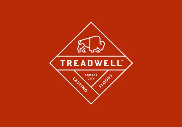 Treadwell designed by Perky Bros #logo #identity #bison #treadwell