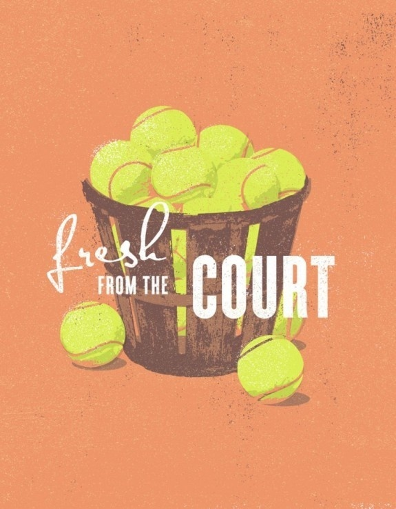 FYI Monday: Beautiful Minimal Retro Designs by J Fletcher #design #tennis #poster