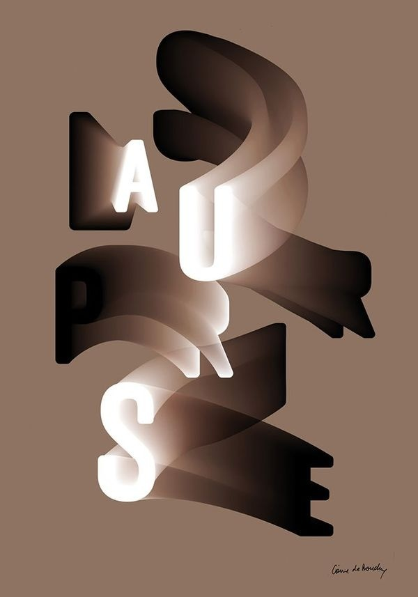 Côme de Bouchony #type #letter #gradient