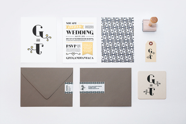 Wedding Invitation   Tanya Duffy – Graphic Designer