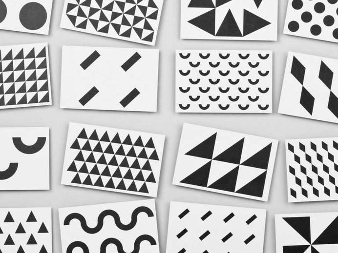 Pattern Cards - Maddison Graphic #geometry #pattern #white #black #and #contrast