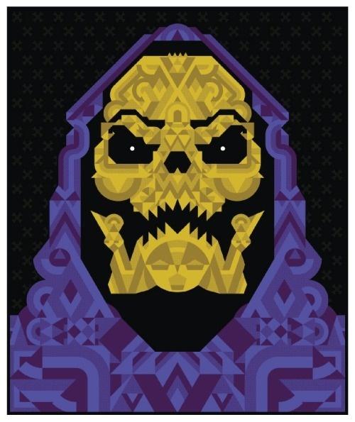 Todd Slater | SKELETOR #skeletor #print #retro #illustration #80s