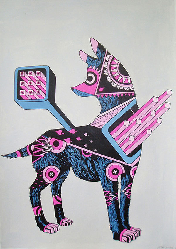 http://www.juxtapoz.com/images/stories/dog2.jpg #illustration #dog