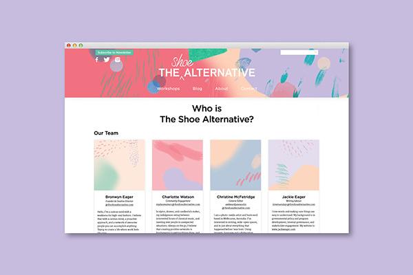 The Shoe Alternative on Behance #website #alternative #shoe