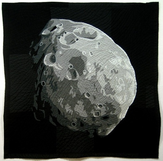 Phobos V2 by stellarquilts on Etsy #quilted #handmade #asteroid #moon