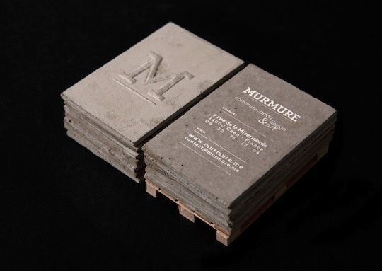concrete business cards murmure 4 #card #concrete #business