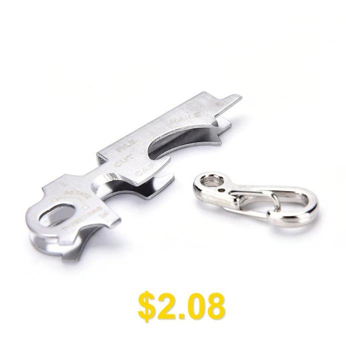 Outdoor #7 #In1 #Keychain #Multitool #Steel #Multi #Tool #- #GOLD