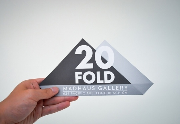 FPO: 20 FOLD Flyer/Postcard #print #invitation #typography